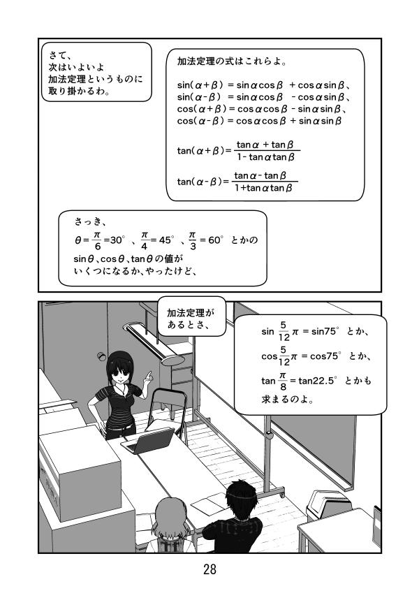 数学漫画 三角関数 加法定理